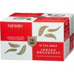 Чай Newby Indian Breakfast (Индиан брэкфаст), черный, 50 пакетиков
