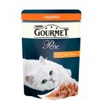 Влажный корм для кошек Gourmet Perle мини-филе с индейкой, 85г