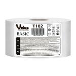 Туалетная бумага Veiro Professional Basic T102, в рулоне, белая, 1 слой, 200м