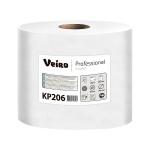 Бумажные полотенца Veiro Professional Comfort KP206, в рулоне с центральной вытяжкой, 200м, 2 слоя, белые