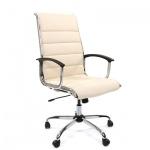 Кресло руководителя Chairman 760 иск. кожа, крестовина хром, бежевая кожа