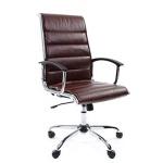 Кресло руководителя Chairman 760 иск. кожа, крестовина хром, коричневая кожа