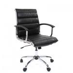 Кресло руководителя Chairman 760-M иск. кожа, черная, крестовина хром, низкая спинка