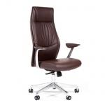 Кресло руководителя Chairman VISTA иск. кожа, коричневая, крестовина хром