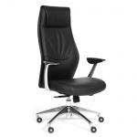 Кресло руководителя Chairman VISTA иск. кожа, черная, крестовина хром
