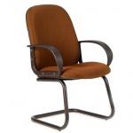 Кресло посетителя Chairman 279 V ткань, JP, на полозьях, коричневый