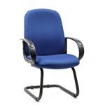 Кресло посетителя Chairman 279 V ткань, JP, на полозьях, синий