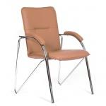 Кресло посетителя Chairman 850 иск. кожа, коричневая, terra 110, на ножках