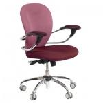 Кресло офисное Chairman 686 ткань, крестовина хром, бордо