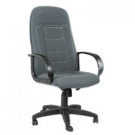 Кресло руководителя Chairman 727, крестовина пластик, серое, ткань MP-Grey