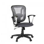 Кресло офисное Chairman 452 ткань, TW, крестовина пластик, серое