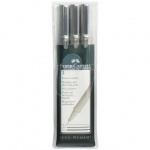 Набор ручек капиллярных Faber-Castell Ecco Pigment черные, 0.4/0.6/0.8мм, 3шт, 167003