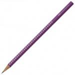 Карандаш чернографитный Faber-Castell Sparkle Pastel B, трехгранный, корпус фиолетовый, 118315