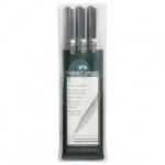 Набор ручек капиллярных Faber-Castell Ecco Pigment черные, 3шт