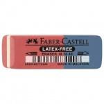 Ластик Faber-Castell Latex Free 7070, красно-синий, каучук
