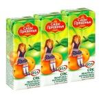 Сок Сады Придонья, 0.2л х 3шт, яблоко-абрикос