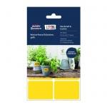 Этикетки всепогодные Avery Zweckform Living, 47.5х35мм, 6шт на листе А4, 4 листа, 24шт, жёлтые