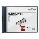 Пластиковая папка с клипом Durable Duraclip Landscape темно-синяя, до 30 листов, A4, до 30 листов, 2246-07