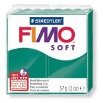 Полимерная глина Fimo Soft изумрудная, 57г