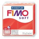 Полимерная глина Fimo Soft индийский красный, 57г