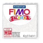 Полимерная глина Fimo Kids блестящая белая, 42г