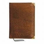 Ежедневник недатированный Канцбург А6, 160 листов, коричневый, кожа
