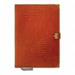 Ежедневник недатированный Канцбург А5, 160 листов, кожа, с застежкой
