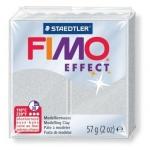 Полимерная глина Fimo Effect Metallic серебряная, 57г