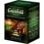 Чай Greenfield, черный, в пирамидках, 20 пакетиков, Минт энд Шоколад