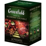Чай Greenfield, черный, в пирамидках, 20 пакетиков, Рэдберри Крамбл