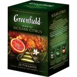 Чай Greenfield, черный, в пирамидках, 20 пакетиков, Сицилиан Цитрус