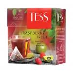 Чай Tess Raspberry fresh (Распберри Фреш), черный, в пирамидках, 20 пакетиков