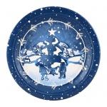 Тарелка одноразовая Buffet Хлопья снега, d=23см, 6шт/уп
