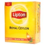 Чай Lipton, черный, 100 пакетиков, Royal Ceylon