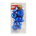 Гроздь шаров Tarrington House 16шт, синее, 418288