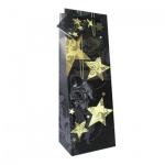 Пакет подарочный новогодний 10x9x33см, EUX/140502