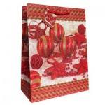 Пакет подарочный новогодний 26x32.5x12.5см, EUX/140312