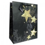 Пакет подарочный новогодний 26x32.5x12.5см, EUX/140320