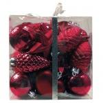 Набор елочных игрушек Tarrington House Традиция 30шт, красный, пластик, 527496