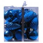 Набор елочных игрушек Tarrington House Традиция 30шт, синий, пластик, 527496