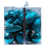 Набор елочных игрушек Tarrington House Сказка 30шт, бирюзовый, пластик, 527497