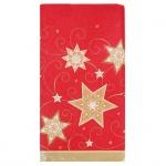 Скатерть Papstar 120х180см, звезды на красном