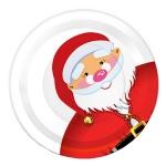 Тарелка одноразовая Papstar, d=23см, 6шт/уп, Дед Мороз