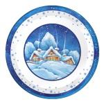 Тарелка одноразовая Papstar Зима, d=23см, 6шт/уп