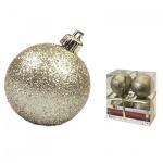 Набор елочных шаров Tarrington House 80мм, золотой, 4шт, пластик, 527484