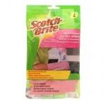 Перчатки латексные Scotch-Brite размер L, розовые