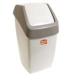 Контейнер для мусора М-Пластика Свинг 25л, ассорти, с качающейся крышкой, М 2463