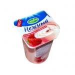 Йогурт Нежный с соком малины и земляники, 1.2%, 100г