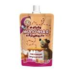 Молоко сгущенное Маша И Медведь 8.5% 270г, с карамелью, мягкая упаковка