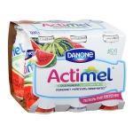 Кисломолочный напиток Actimel натуральный, арбуз  100г х 6шт